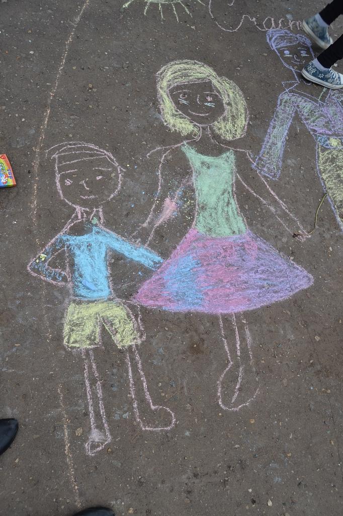 Красивые картинки мелом на асфальте для детей